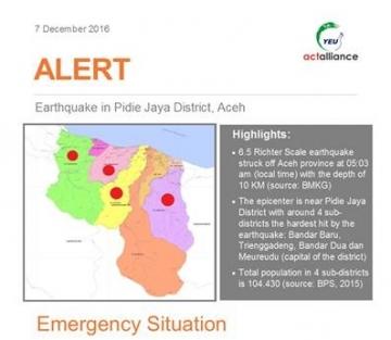ALERT Gempa Pidie Jaya, Aceh