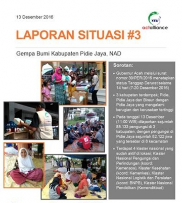 Situation Report #3 Gempa Pidie Jaya Aceh