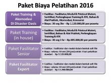 Paket Biaya Pelatihan tahun 2016