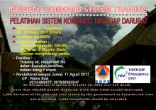 "Pelatihan Sistem Komando Tanggap Darurat ""Incident Comment System (ICS)"""